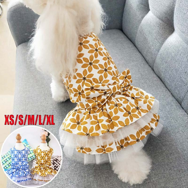 2020 New Pet Clothes Spring and Summer Dog Princess Dress Skirts for Small Dog Teddy Bear Puppy Clothing