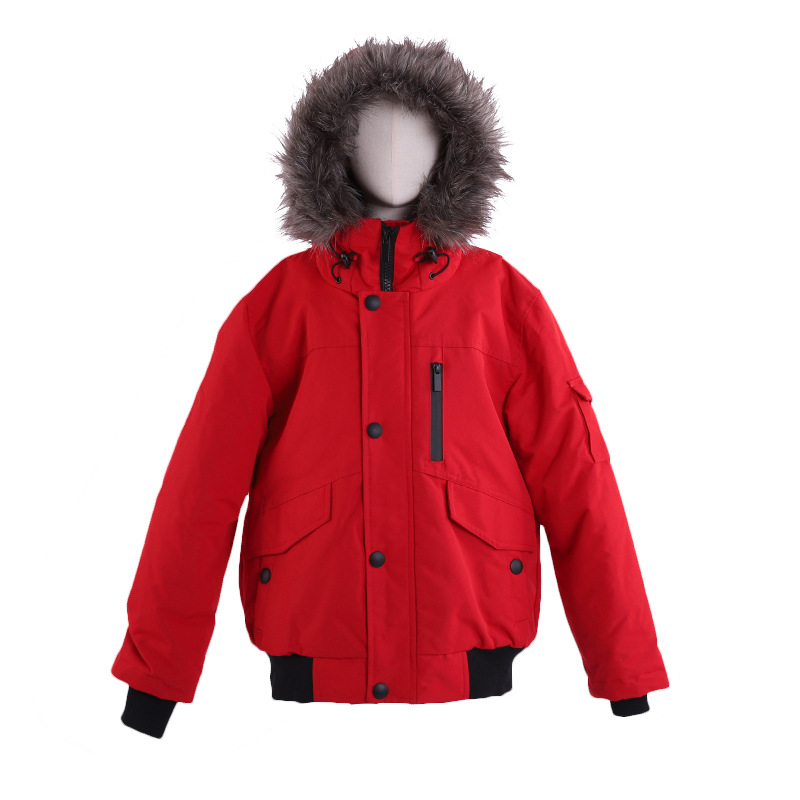 Children's waterproof and cold-proof down jacket ski suit