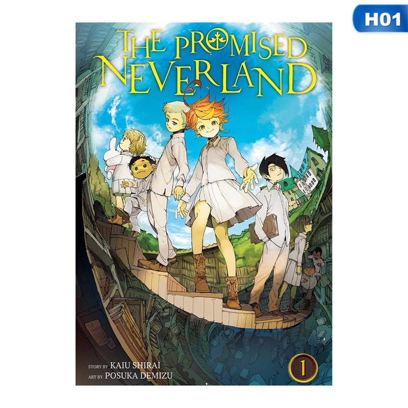 The Promised Neverland Emma Norman Ray Isabella Anime Painting Sticker Poster