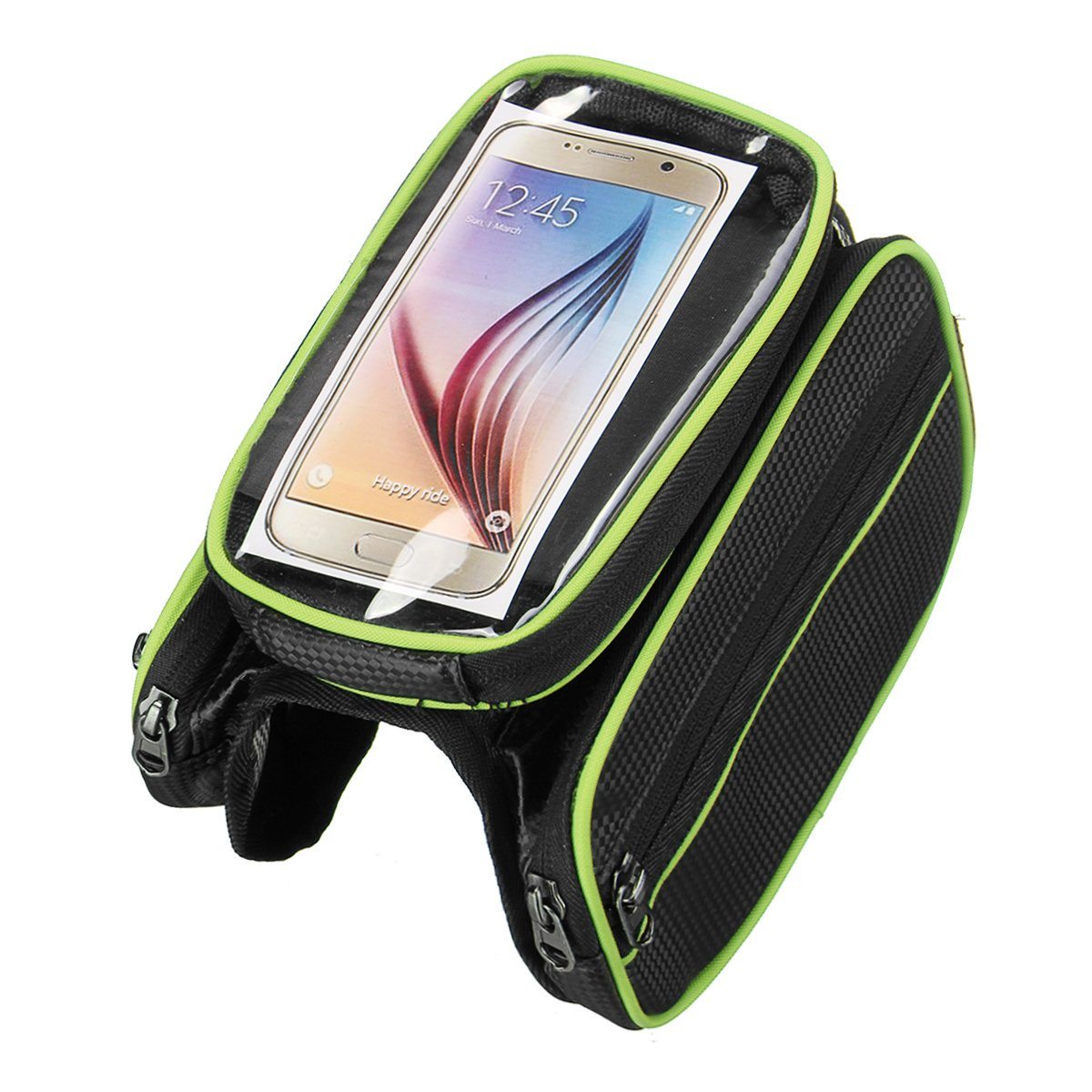Bicycle touch screen front beam mobile phone bag