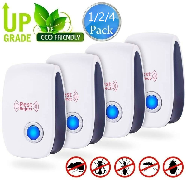 1/ 2 /4 Pack Ultrasonic Repeller Indoor Plug In Pest Control For Insects