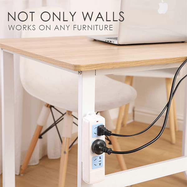 Power Strip Wall Mounted Fixer
