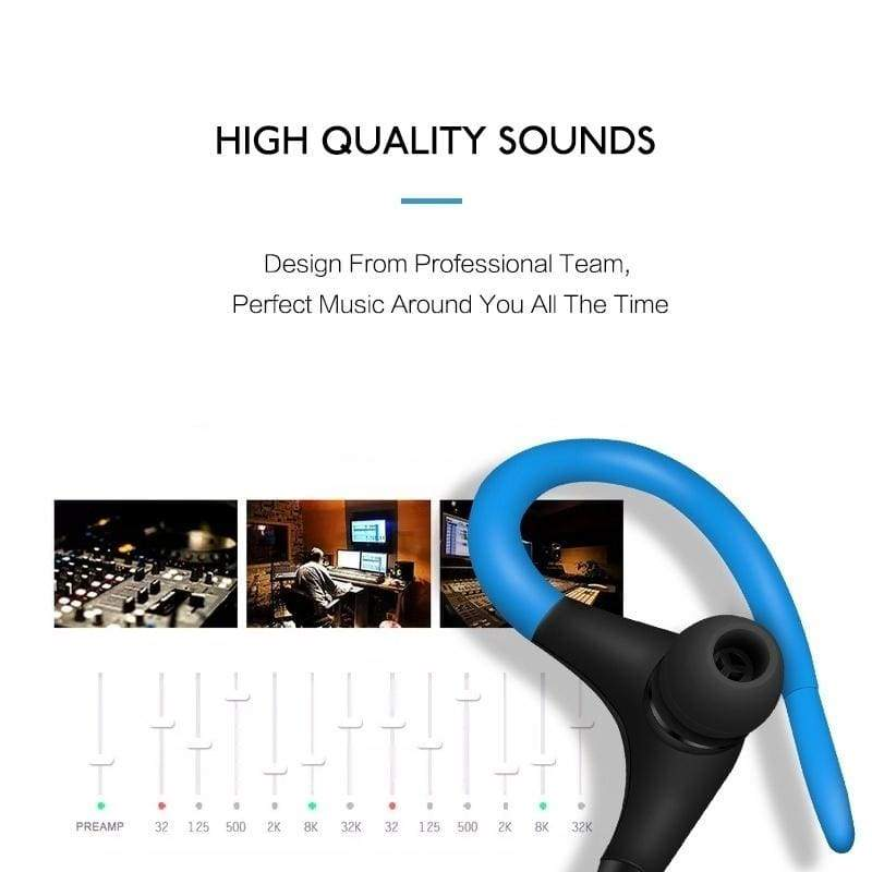Bluetooth Earphone Sport Running Stereo Earbuds Wireless Neckband Headset Headphone with Mic for Universal Cellphones