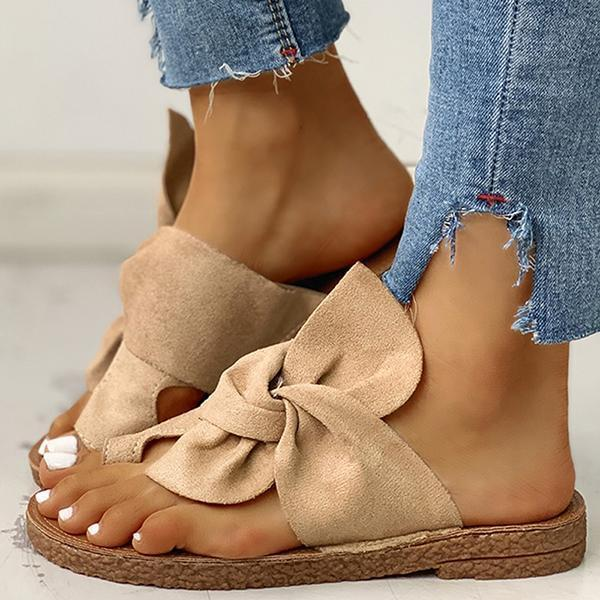 Upawear Bowknot Toe Ring Non-slip Slippers
