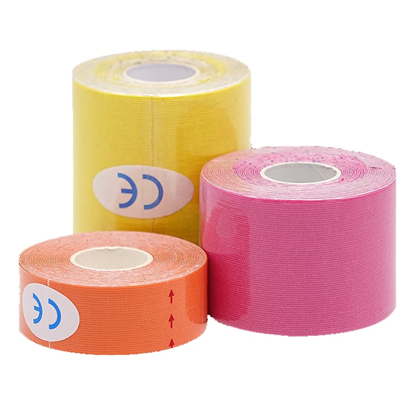 5M Elastic Cotton Roll Adhesive Tape Sports Muscle Tape Bandage Care Kinesiology Muscle Injury Support
