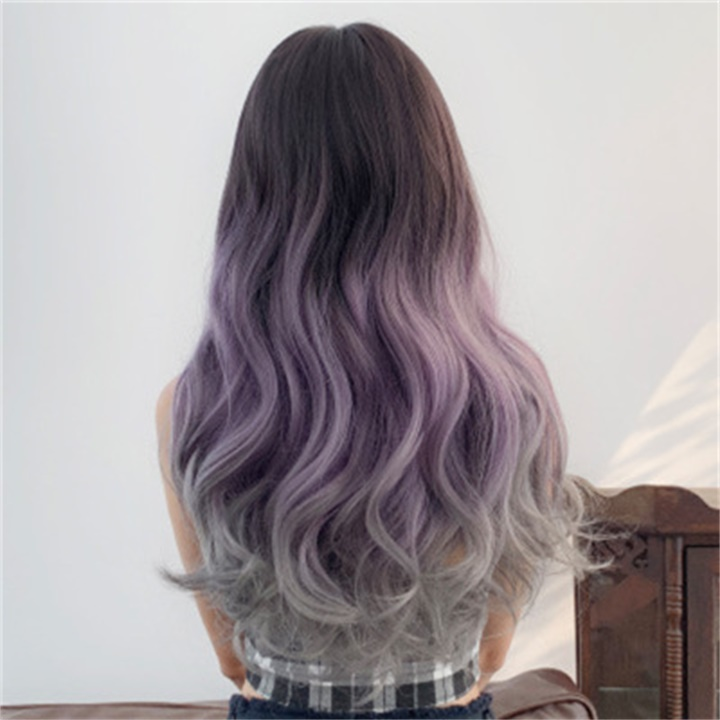 ✨New Sale 40% OFF ✨New Fashion Three-color Gradient Big Wave Wig