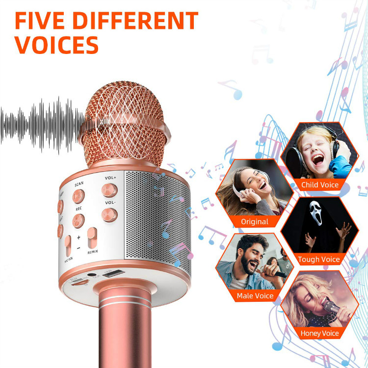 💥Last Day Promotion 50% OFF-Sale💥 Wireless Bluetooth 3-In-1 Karaoke Mic Speaker
