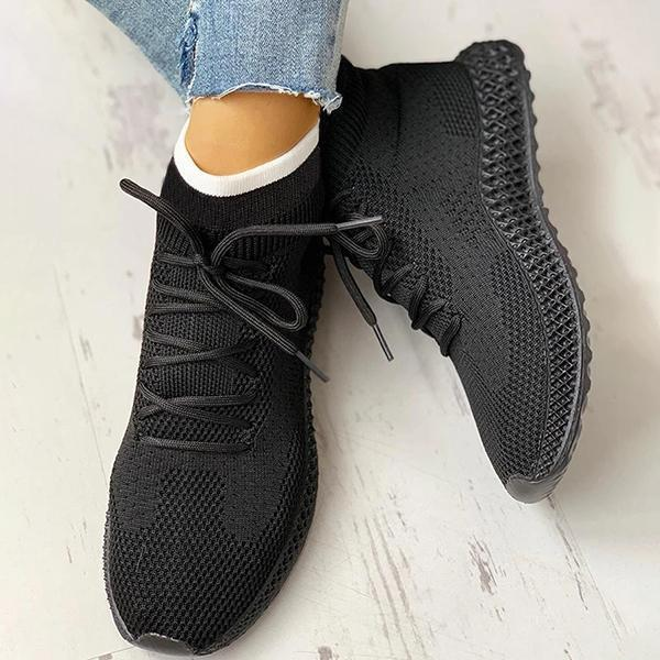 Zoeyootd Breathable Lace-up Casual Socks Sneakers