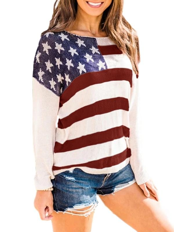 Bonnieshoes Casual Crew Neck Blend Sweater