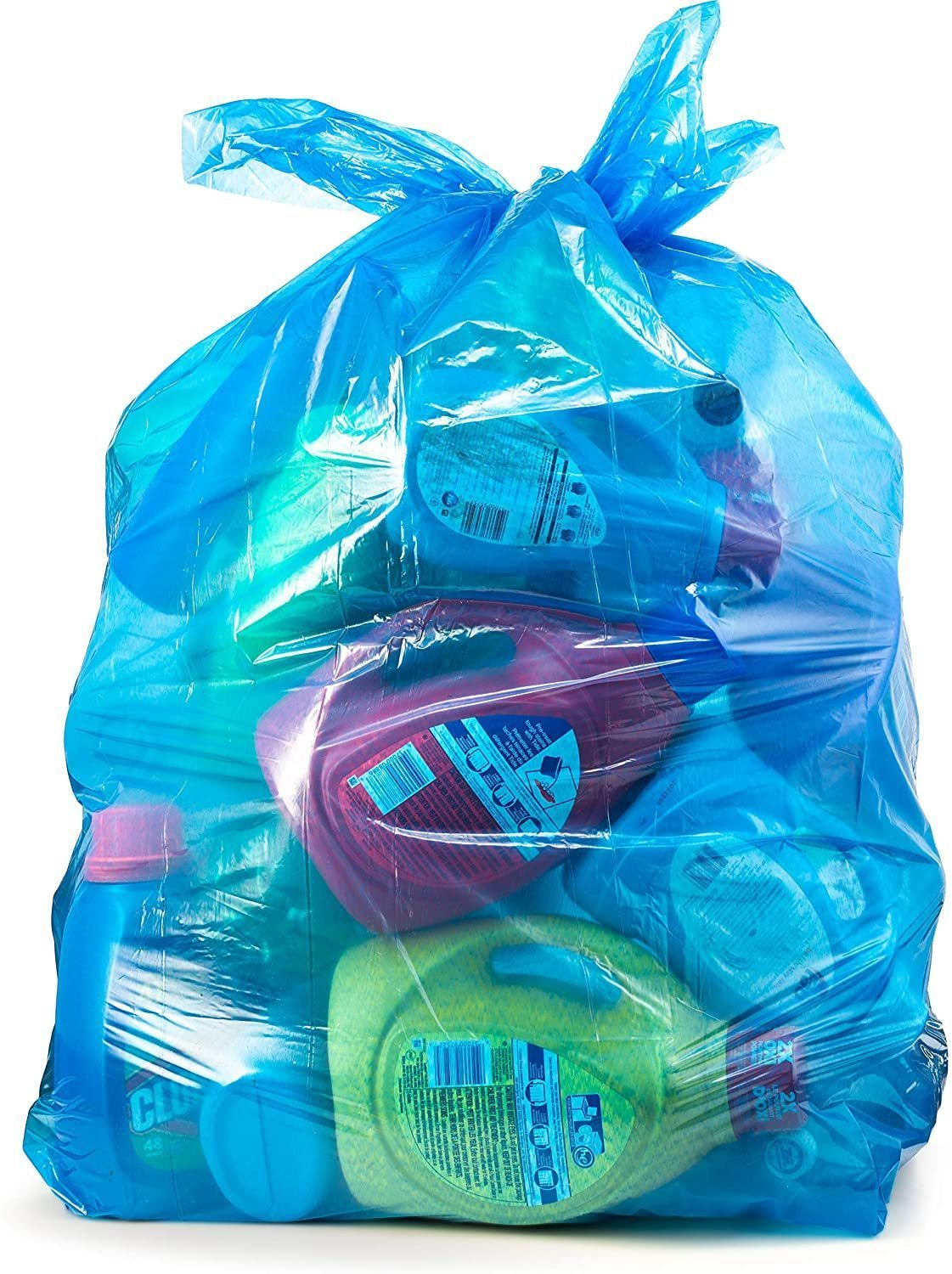 Clear Trash Bags, 33 Gallon, Large Recycling Plastic Garbage Bags, 100/Count, 33