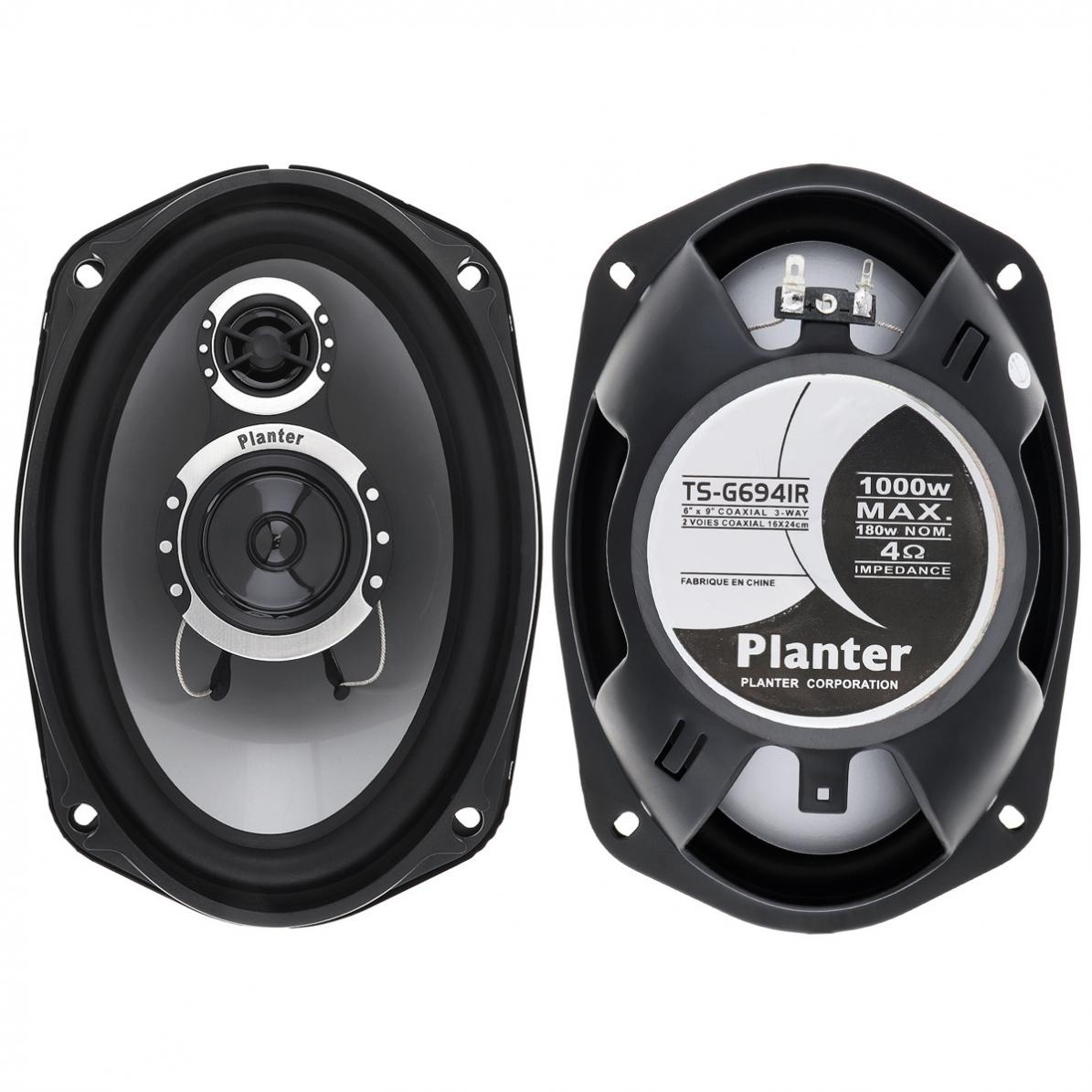 Universal 3 way 2pcs 6x9 Inch 25HZ-30KHZ 1000W Car Coaxial Auto Audio Music Stereo Full Range Frequency Hifi Speakers Non-destructive Installation