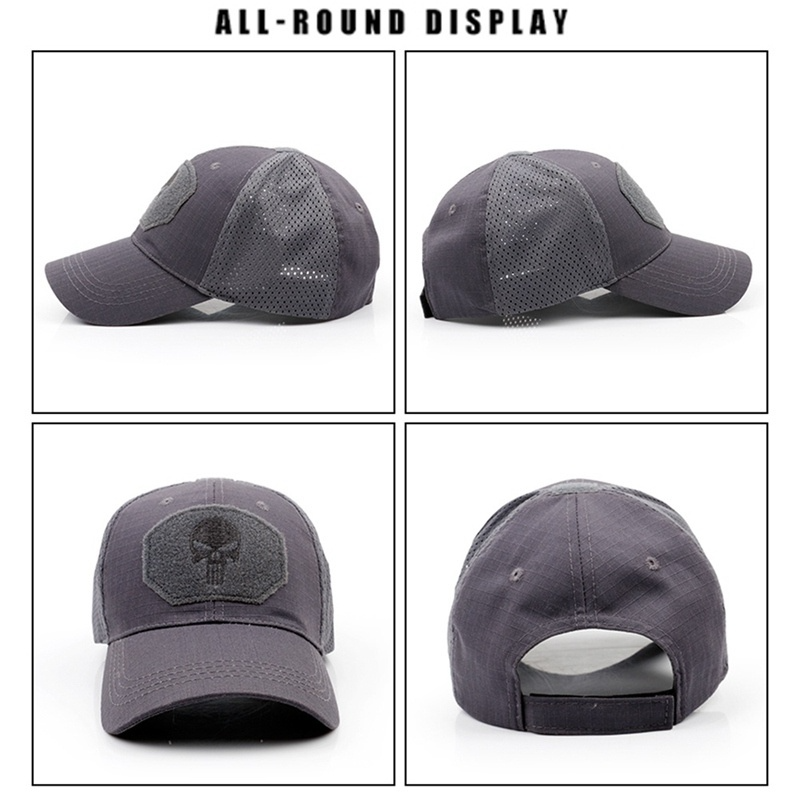 New Skull Hip Hop Unisex Baseball Caps Popular Sport Hats Washed Cotton Hat Casual Adjustable Dad Hat Outdoor Snapback Caps Breathable Baseball Cap