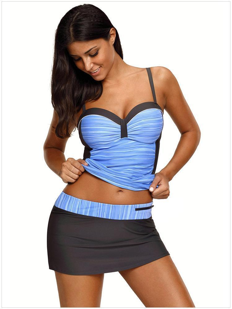 Sling Cover Belly Underwire Swimsuits Two Pieces