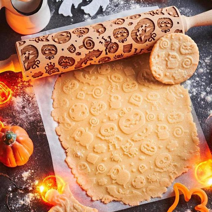 Halloween Christmas Rolling Pin