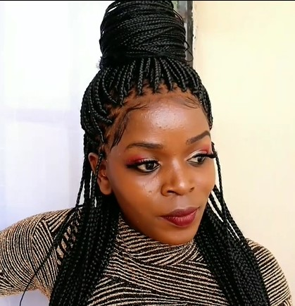 Most Realistic Box Braids Lace Front Wig Glueless Lace Wigs For Black Women With Baby Hair
