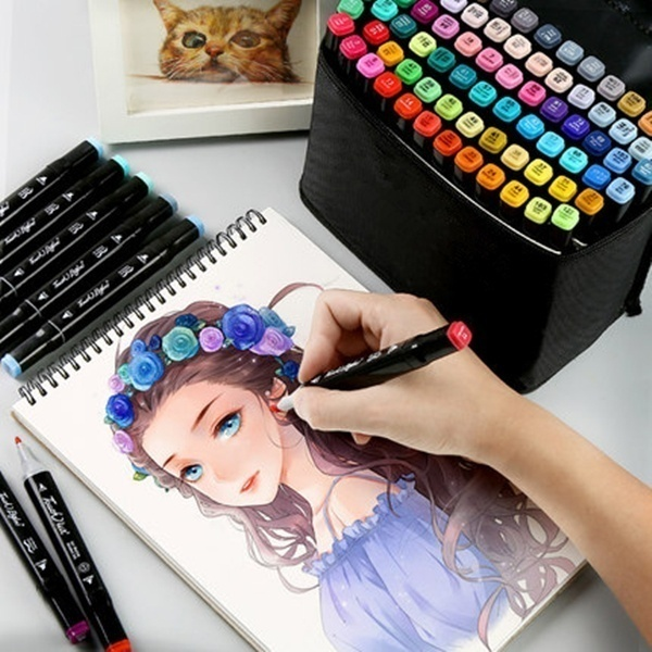 Markers Set 60/40/30/18 Colors Manga Design Double Head For School Art Supplies Design Marker Copic Markers Sketch Set