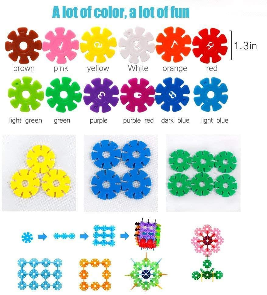 500 Piece Interlocking Plastic Disc Set