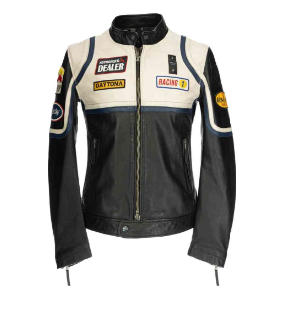 Motorcycle leather jacket for men and women (extra size)