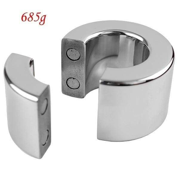 Magnetic Stainless Steel Cockrings Ball Stretcher 5 Size Choose Men CBT Games