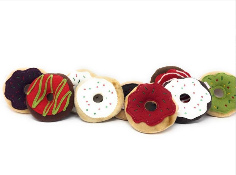 Christmas Dog Toy | Donut Toy | Dog Gift | Squeaky Dog Toy | Puppy Toy | Squeaky Dog Toy | Holiday Dog Toy | Stocking Stuffer