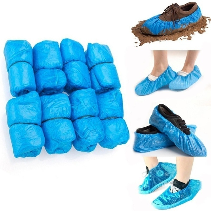 100/50/30/20PCS  Disposable Shoe Covers Blue Carpet Floor Protector Foot Shoes Cover for Hospital Overshoes Medical Waterproof Boot Covers