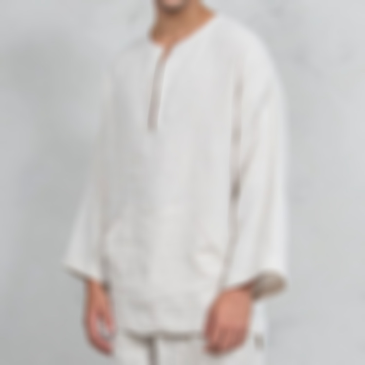 Men's Ethnic Middle East Style Bell Sleeve V-Neck Loose T-shirt