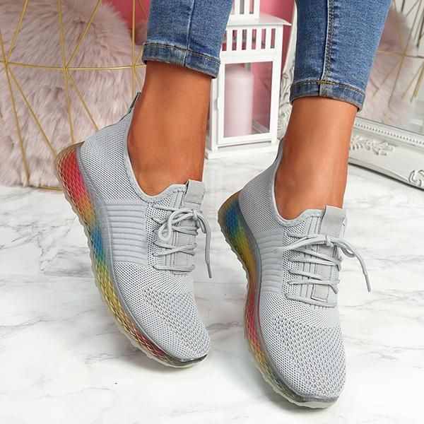 Mokoshoes Rainbow Trainers Sneakers