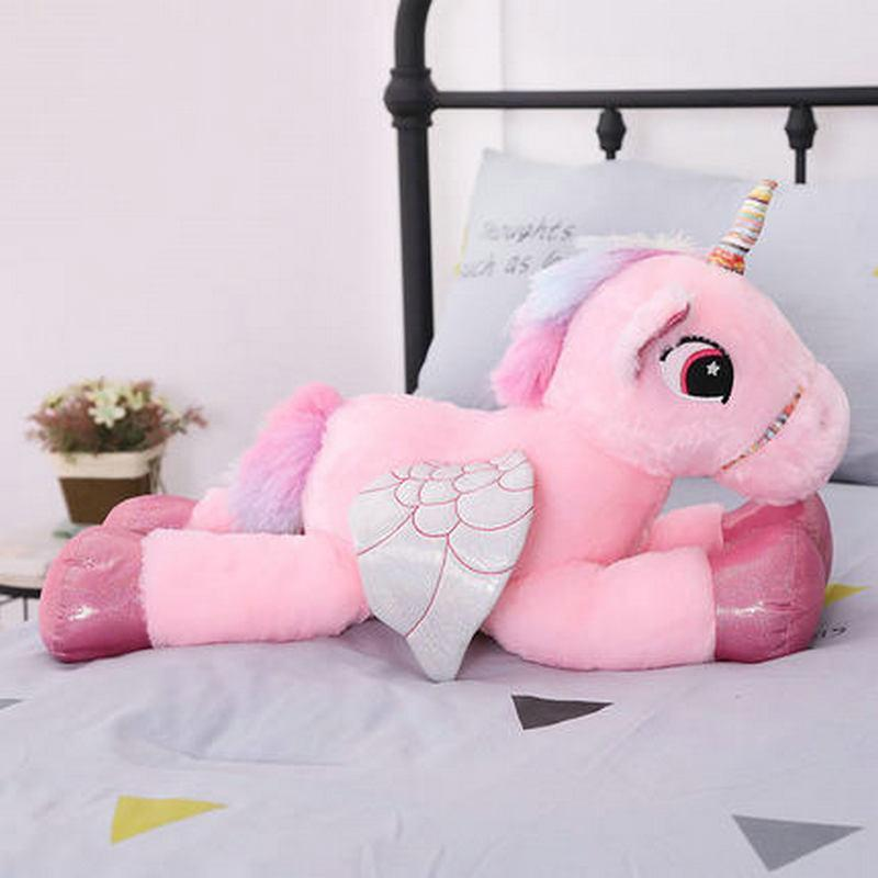 Large Unicorn Stuffed Animal Plush w/ Wings