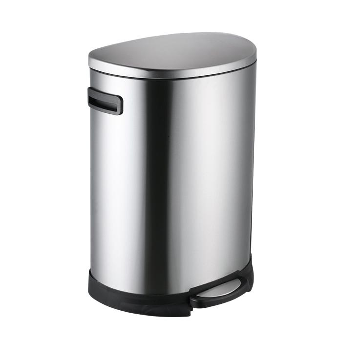 Kitchen soft close stainless steel pedal luxury trash can 50l garbage bin trash can-1.20