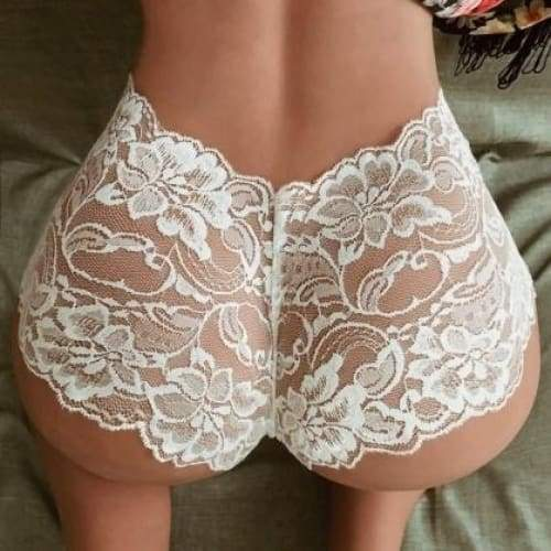 Women Sexy Underwear Lace Briefs Panties Super Thin Hollow women's breathable sexy lace See Through panties Black Whit