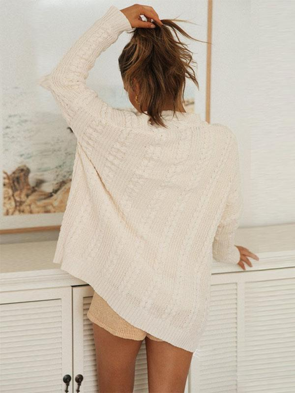 Bonnieshoes Oversized Bat Sleeve Relaxed Fit Knitting Sweater