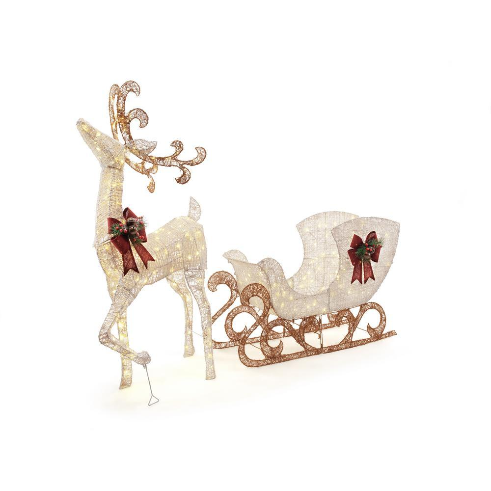 Outdoor Christmas Decoration Reindeer with sleigh set