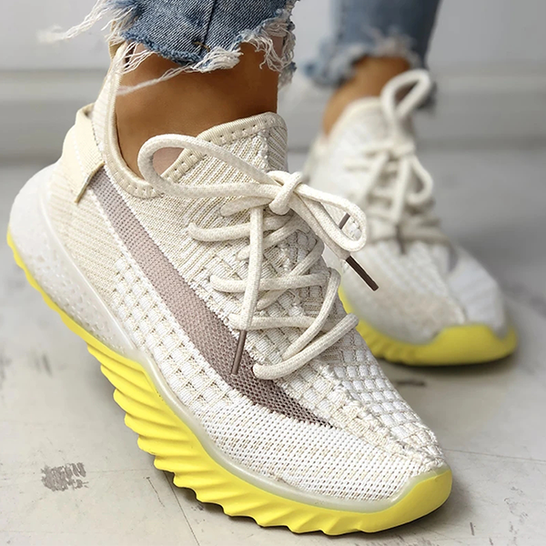 Bonnieshoes Net Surface Breathable Lace-Up Sneakers
