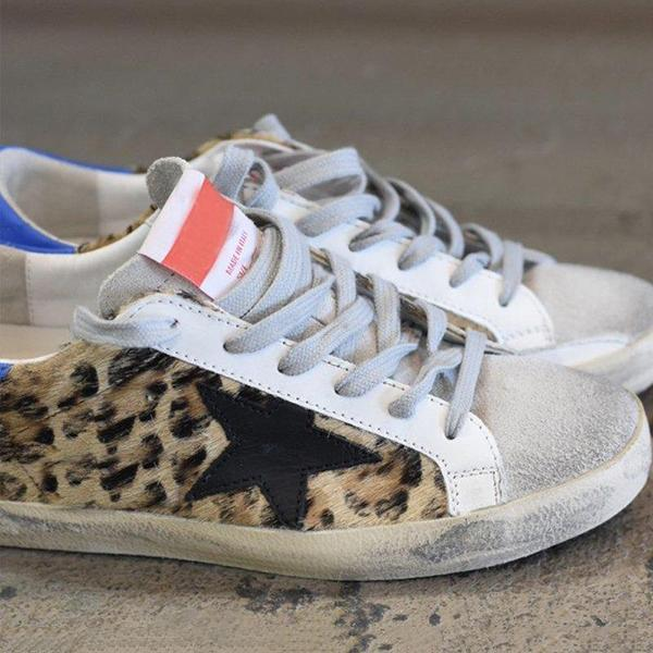 Mokoshoes Leopard Daily Lace Up Sneakers