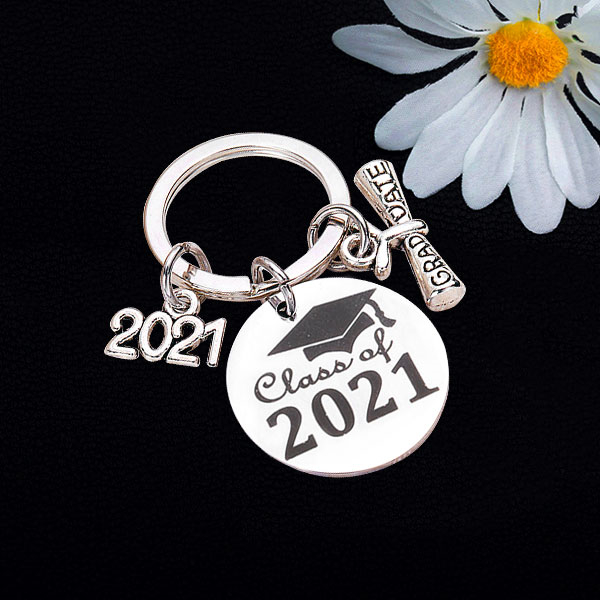 2021 Graduation Keychain-Graduation Gift for Friends