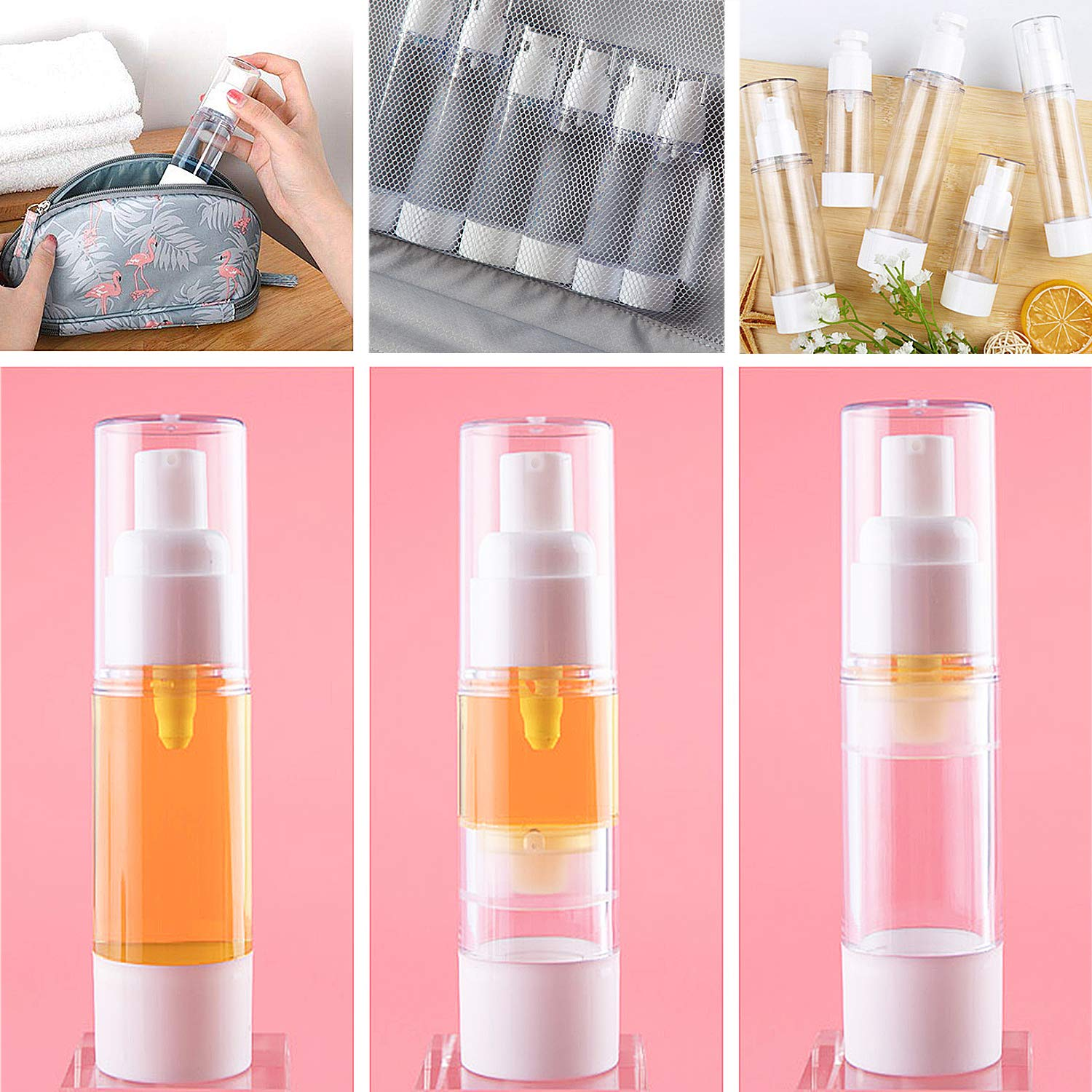 (💥New Year Flash Sale💥-48% OFF)Airless Vacuum Pump Travel Bottles(BUY 5 GET 3 FREE & FREE SHIPPING NOW)