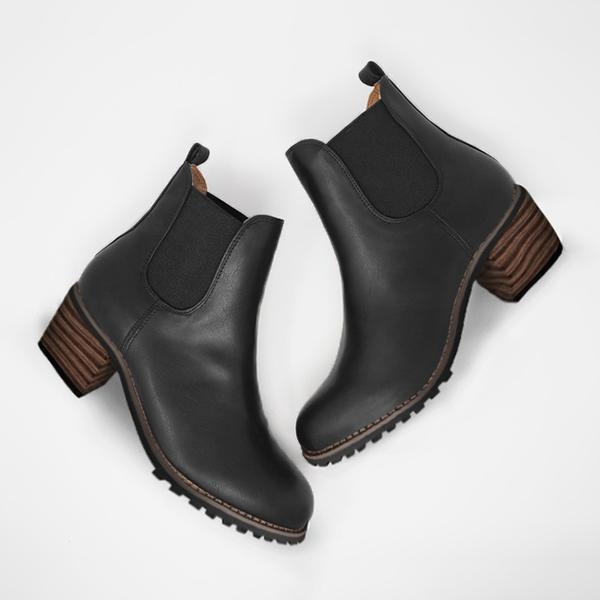 Upawear Chunky Cleated Heel Chelsea Boots