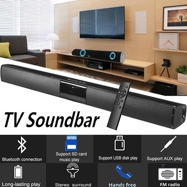New Sound Bar for TV  Luxury Upgrade Home Theater Systems Wireless Bluetooth Soundbar  TV Home Theater Soundbar Black
