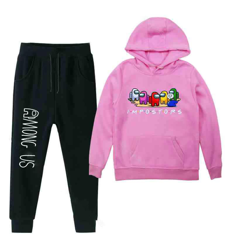 Funny Hoodie Top Pants Suit For Boys And Girls