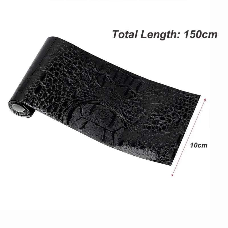 Automotive Interior Stickers Car Sticker Wrap Film Simulation Crocodile Styling Leather Interior Decor Decals 150*10cm