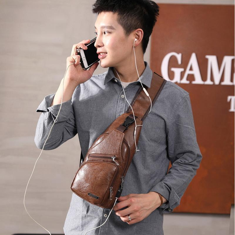 (Anniversary Sale)Leather Sling Bag