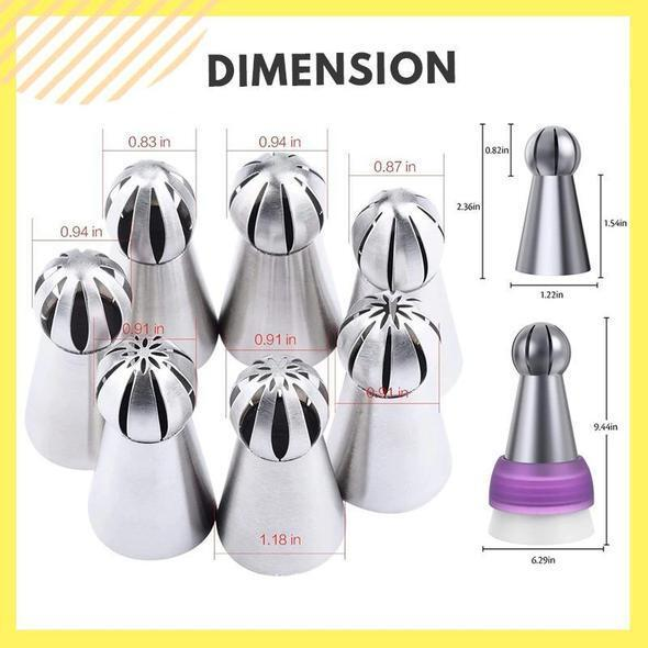 【🎁CHRISTMAS PROMOTIONS 🔥-50% OFF】Cake Decor Piping Nozzle Set