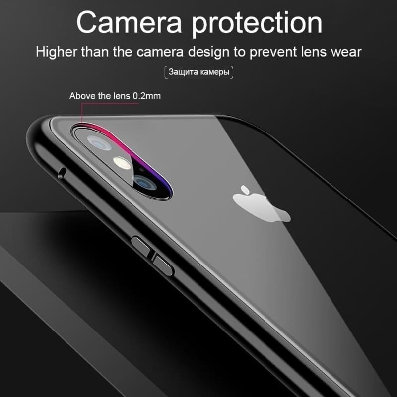 Luxury Flip Magnetic Adsorption Case For iPhone 6 6S 7 8 Plus X XR XS MAX 11 11Pro Max Metal Frame Tempered Glass Back Cover For Samsung Galaxy S8 S9 Plus S10 S10+ S10e Note 8 9 10 10+