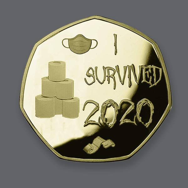 🔥ONLY $6.98 The Last Day🔥'I SURVIVED 2020'  Gold Commemoratives-Buy 6 Free Shipping