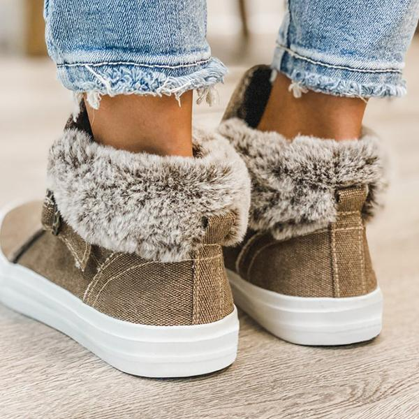 Mokoshoes Brown Buckle High Top Boots
