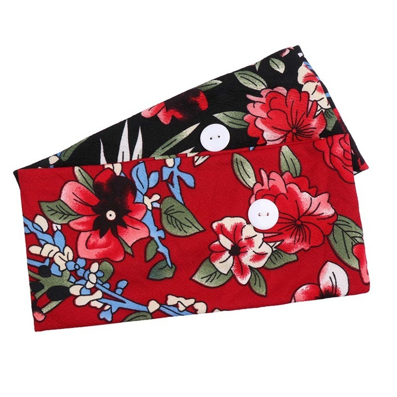 Women'S Hair Band Floral Headband Hair Band Elastic Hair Band Women'S Spring Fashion Headband  Korean Style Elastic Hairband(Not Include Mask)