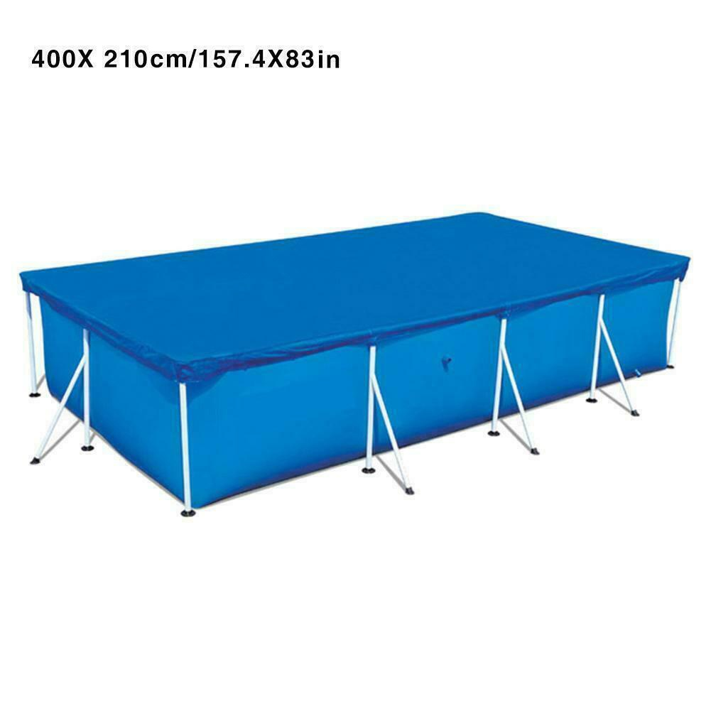 UV-resistant Pool Cover Rectangular Swimming UV-resistant Pool Cover Waterproof Dustproof Durable Covers