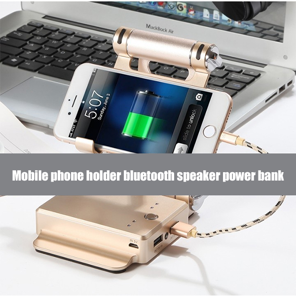 Built-in Bluetooth Speaker And Power Bank Three-in-one Stand🔥BUY TWO FREE SHIPPING