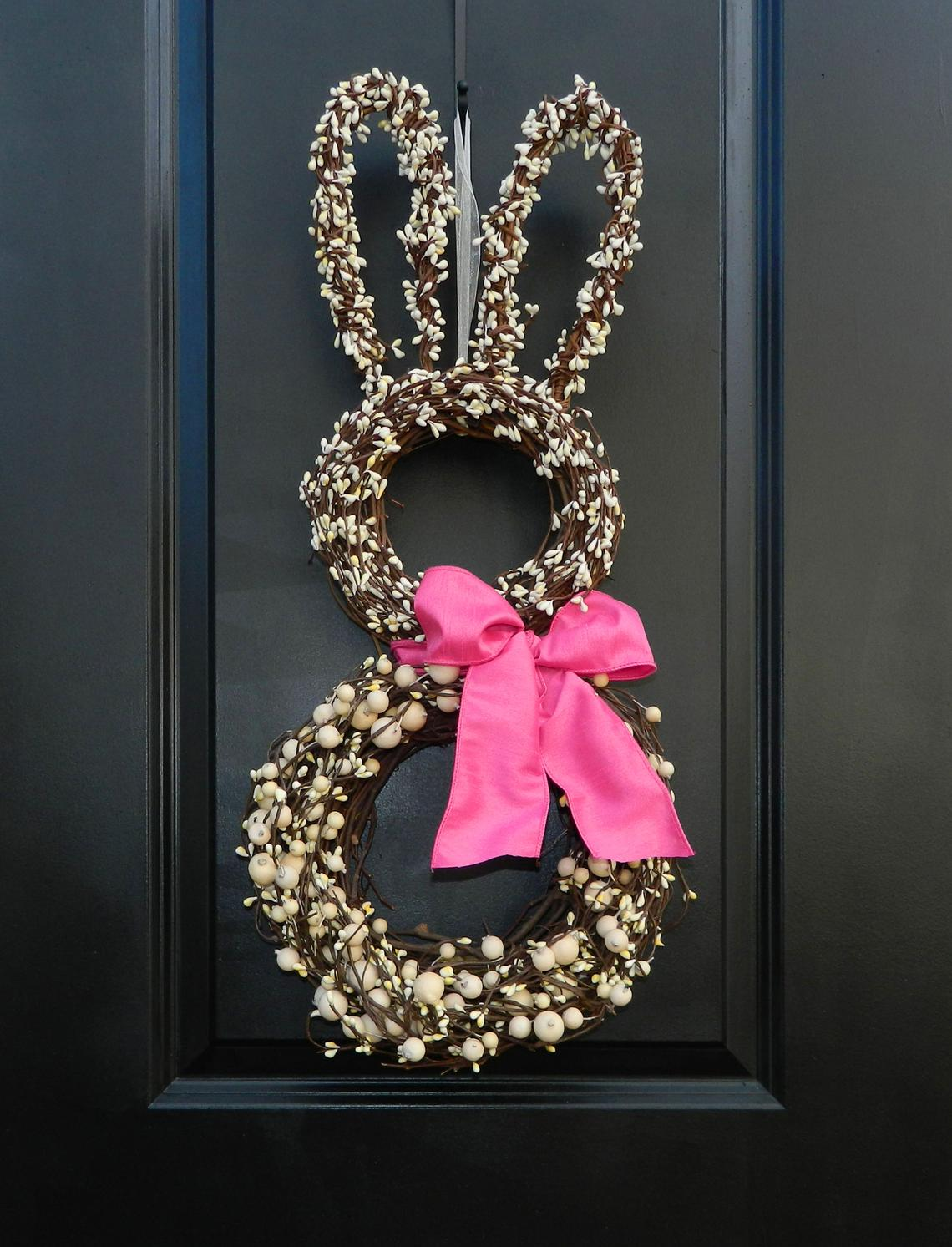🔥 Easter Pre-Sale🔥50% OFF 🔥Easter Wreath - Bunny Wreath - Spring Wreath - Easter Decoration - Choose Bow Color