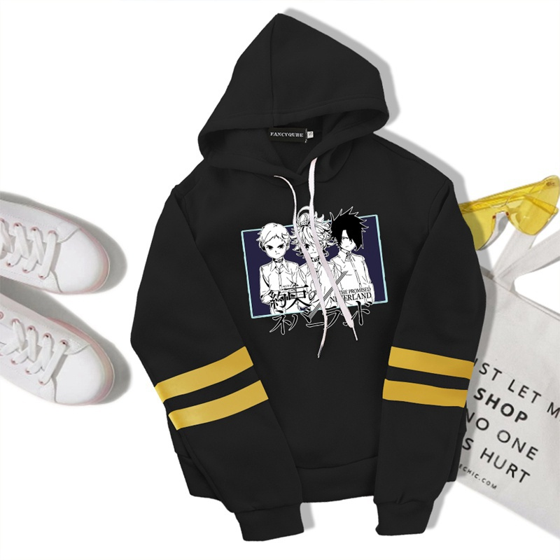 The Promised Neverland Printed Cropped Hooded